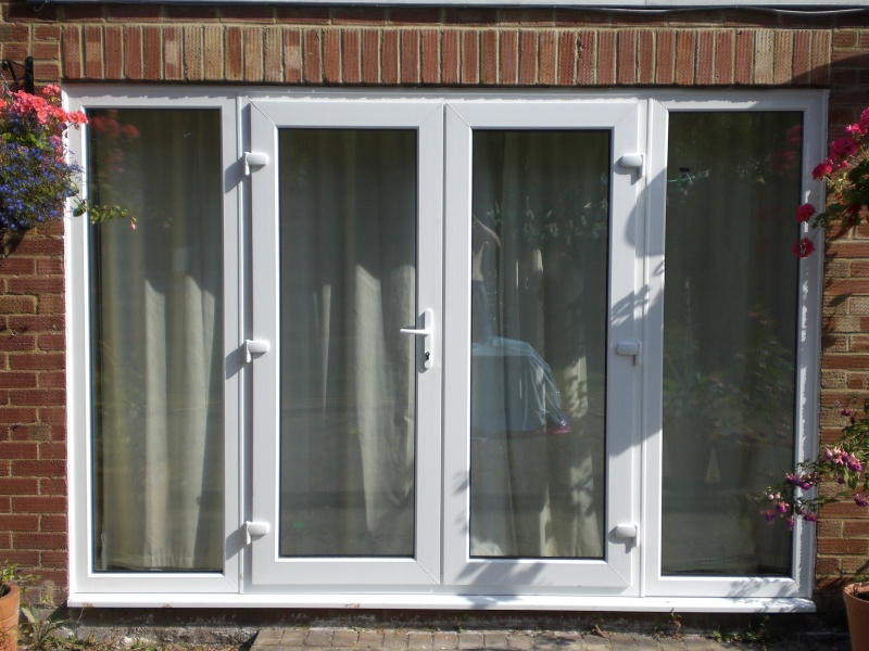 Charming Upvc French Doors With Sidelights Part - 14: ... White French Doors ...